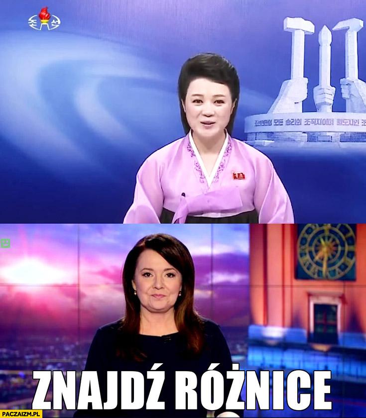 Danuta Holecka Wiadomości TVP telewizja wiadomości w Korei Północnej znajdź różnice