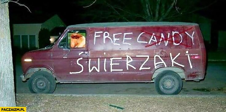 Darmowe świeżaki furgonetka ciężarówka van free candy przeróbka