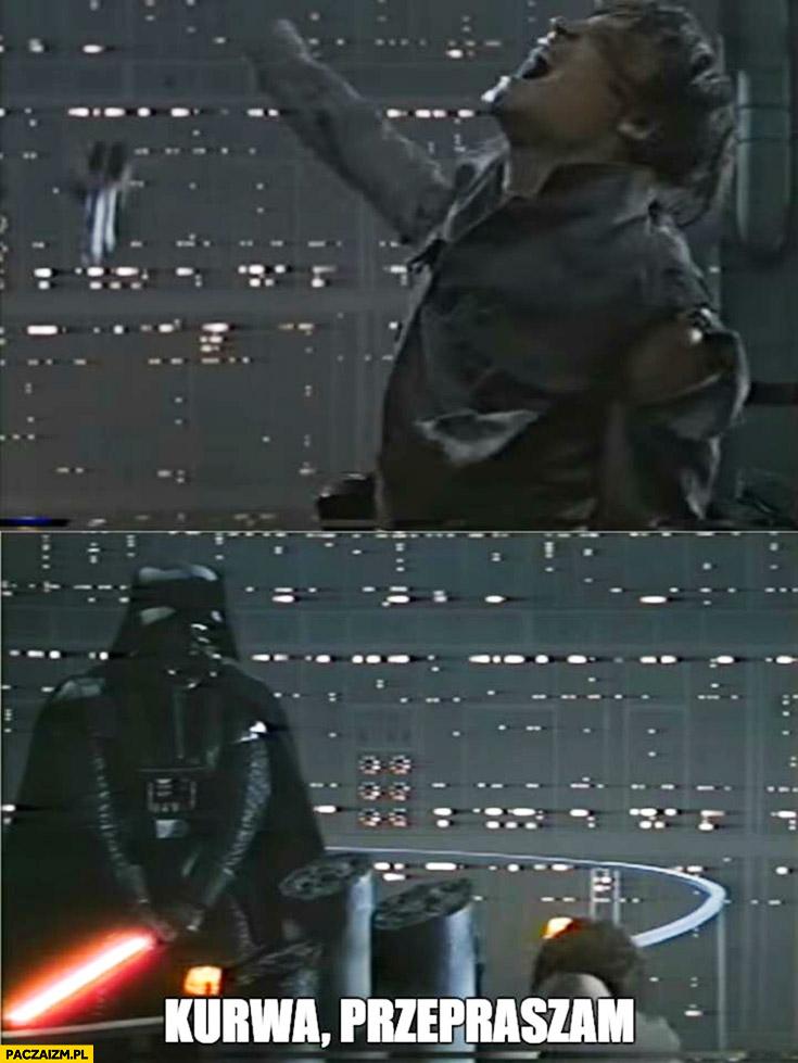 Darth Vader odcina rękę Luke Skywalkerowi kurwa przepraszam