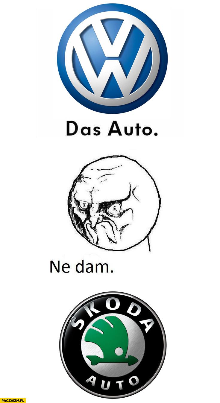 Das Auto ne dam Skoda Volkswagen