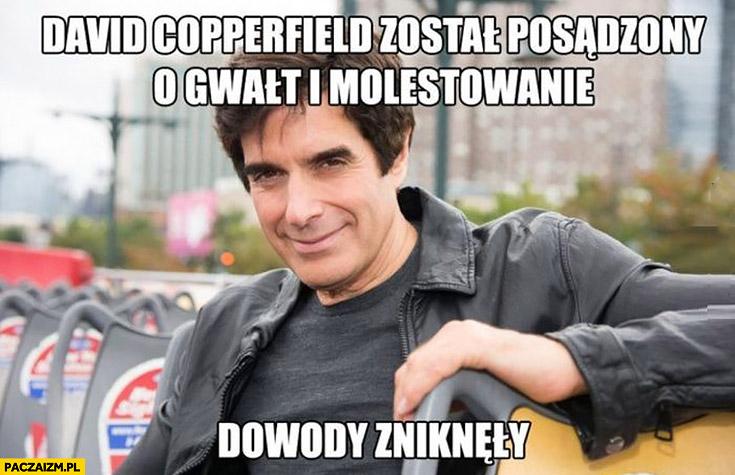 David Copperfield został posądzony o gwałt i molestowanie, dowody zniknęły
