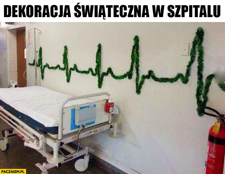 Dekoracja świąteczna w szpitalu puls tętno wykres