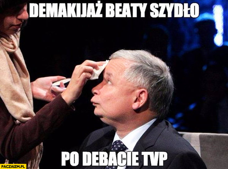 Demakijaż Beaty Szydło po debacie TVP