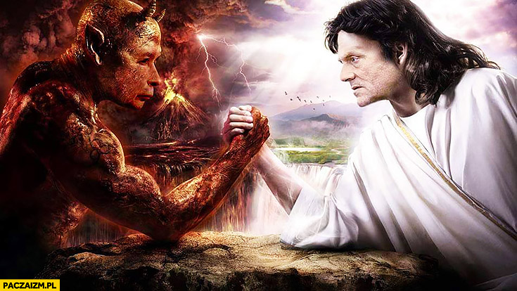 Diabeł szatan vs anioł Bóg Kaczyński vs Tusk przeróbka