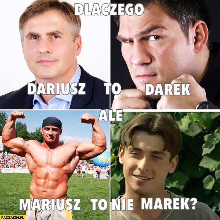 Dlaczego Dariusz to Darek ale Mariusz to nie Marek?