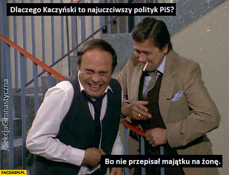 Dlaczego Kaczyński to najuczciwszy polityk PiS? Bo nie przepisał majątku na żonę Sekcja Gimnastyczna