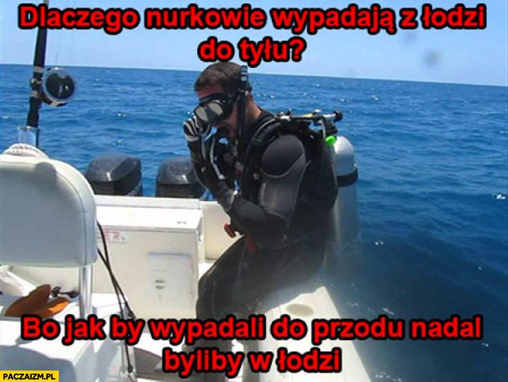 Dlaczego nurkowie wypadają z Łodzi do tyłu? Bo jakby wypadali do przodu nadal byliby w łodzi