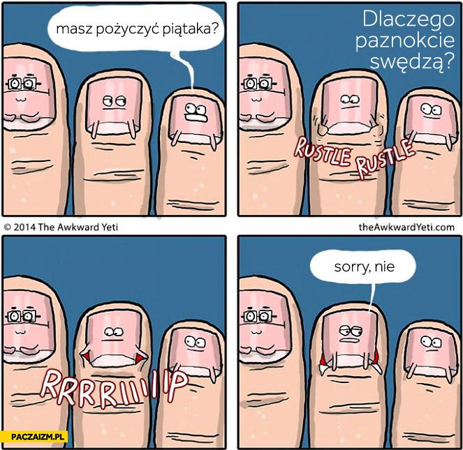 Dlaczego paznokcie swędzą?
