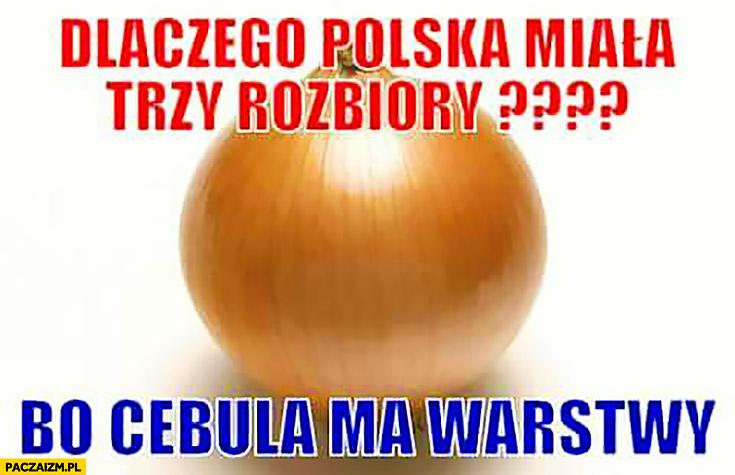 Dlaczego Polska miała trzy rozbiory? Bo cebula ma warstwy