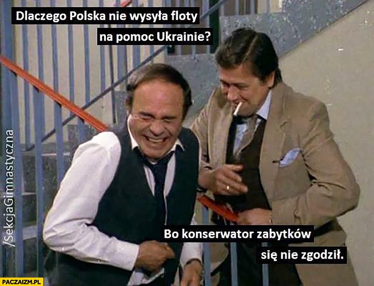 Dlaczego Polska nie wysyła floty na pomoc Ukrainie? Bo konserwator zabytków się nie zgodził Sekcja gimnastyczna