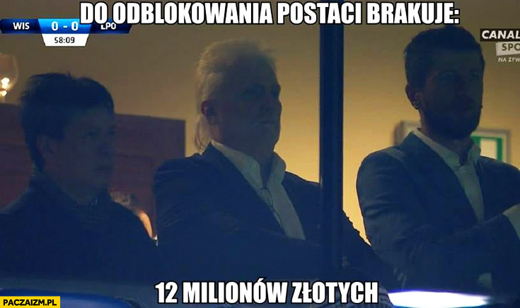 Do odblokowania postaci brakuje 12 milionów złotych Wisła Kraków