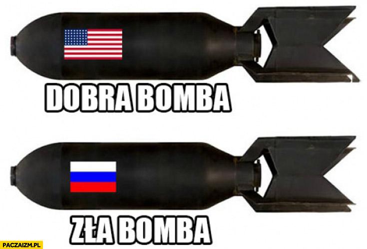Dobra bomba USA, zła bomba Rosja Syria