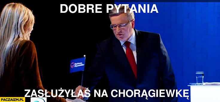 Dobre pytania zasłużyłaś na chorągiewkę Olejnik Bronek Komorowski debata