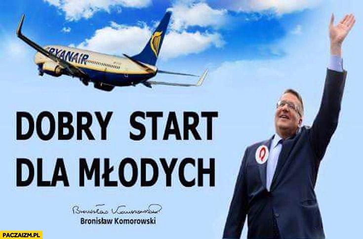 Dobry start dla młodych Ryanair Bronek Komorowski