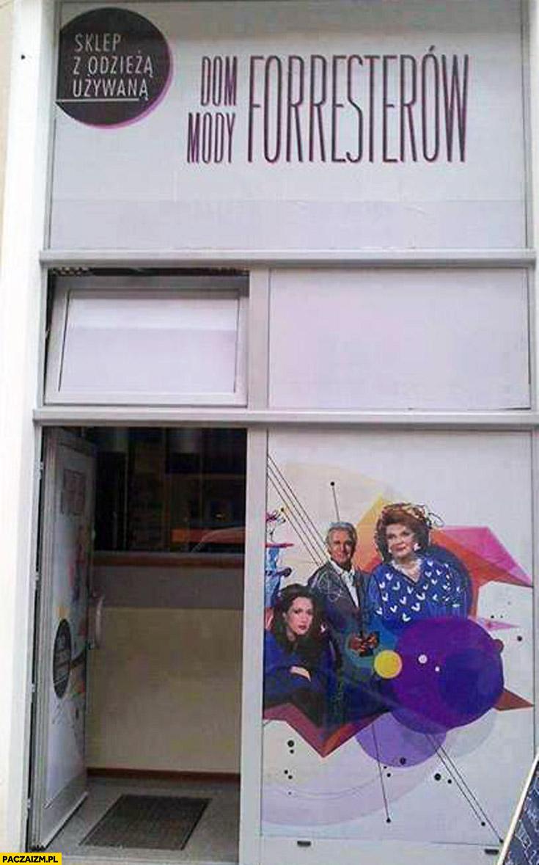 Dom mody Forresterów sklep z odzieżą używaną