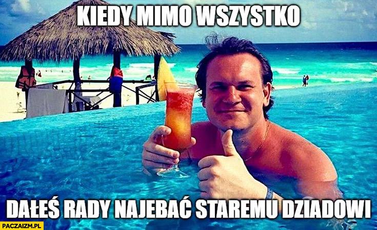 Dominik Tarczyński kiedy mimo wszystko dałeś rade nakopać staremu dziadowi Korwinowi