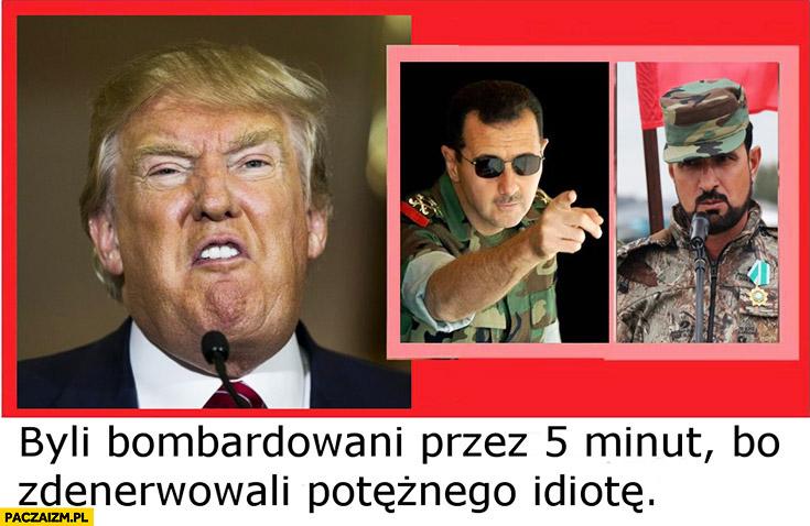 Donald Trump byli bombardowani przez 5 minut, bo zdenerwowali potężnego idiotę. Potężny gej
