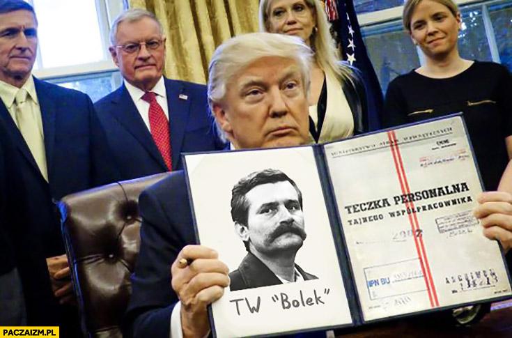 Donald Trump teczka personalna tajnego współpracownika Bolek Lech Wałęsa