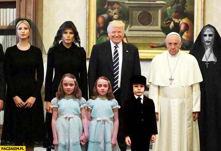 Donald Trump wizyta u papieża Franciszka przeróbka horror dziewczynki śmierć