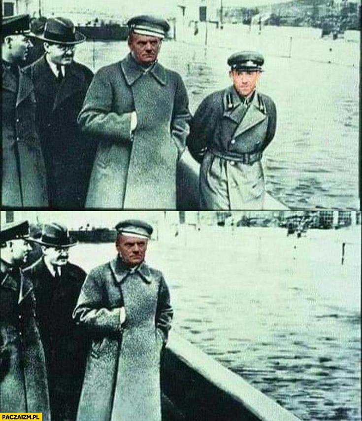 Donald Tusk Borys Budka przeróbka wycięty ze zdjęcia photoshop