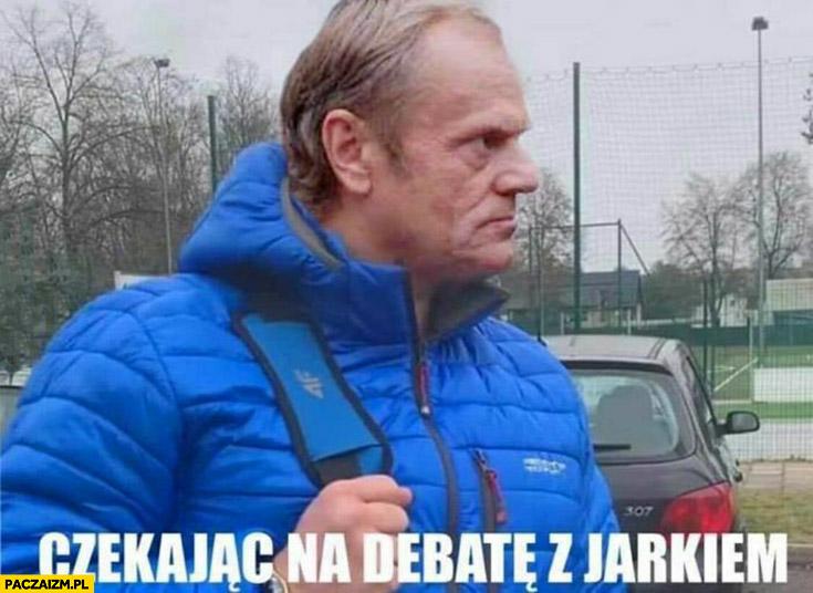 Donald Tusk czekając na debatę z Jarkiem Kaczyńskim Najman przeróbka