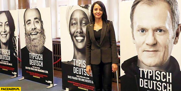 Donald Tusk kampania typowy Niemiec typisch Deutsch