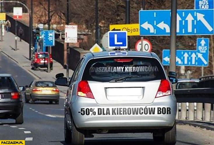 Doszkalamy kierowców promocja pół ceny dla kierowców BOR nauka jazdy