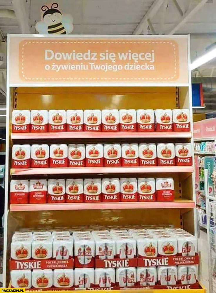 Dowiedz się więcej o żywieniu Twojego dziecka Tyskie regał w sklepie