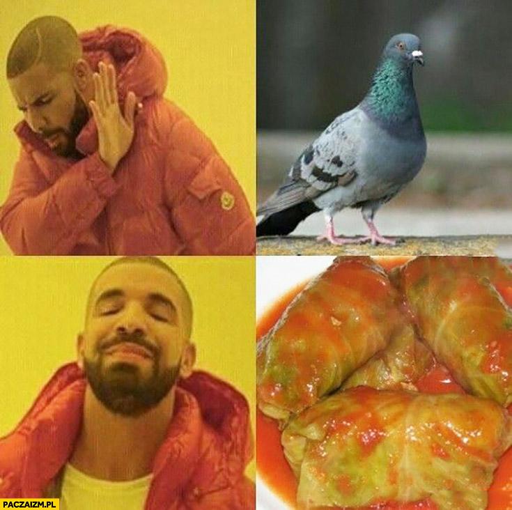 Drake gołąb żywy – nie, gołąbki – tak