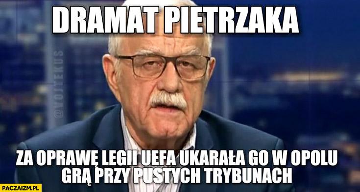 Dramat Pietrzaka za oprawę Legii UEFA ukarała go w Opolu grą przy pustych trybunach