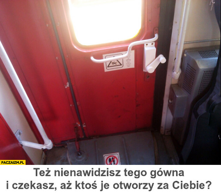 Drzwi w pociągu PKT też nienawidzisz i czekasz aż ktoś je otworzy za Ciebie?