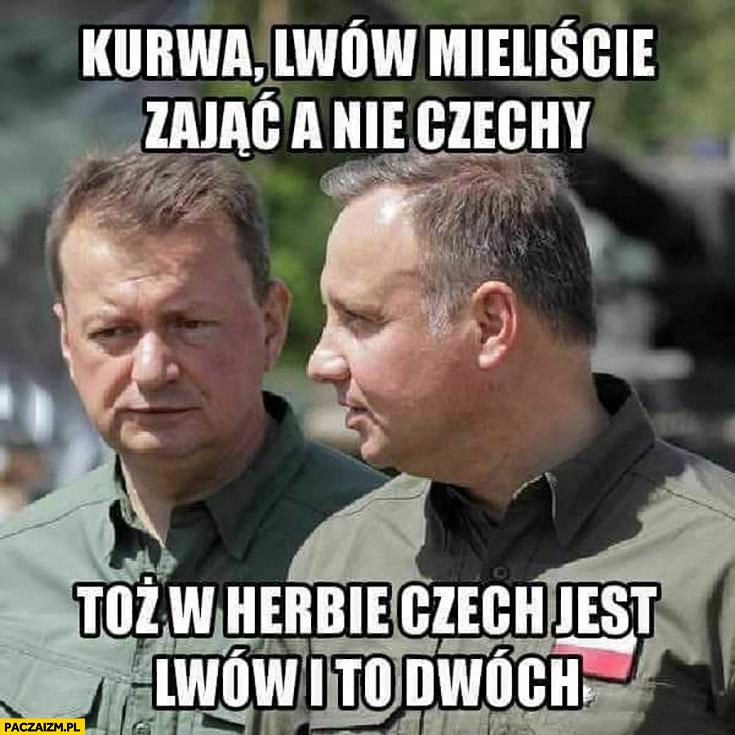 Duda Błaszczak Lwów mieliście zając a nie Czechy, w herbie Czech jest lwów i to dwóch
