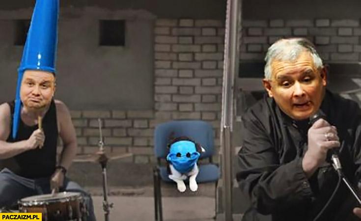 Duda Kaczyński grają w zespole kot w maseczce przeróbka