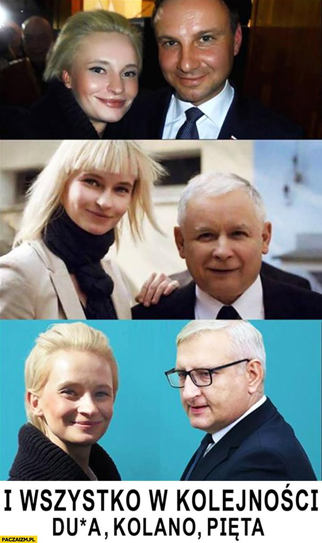 Duda, kolano Kaczyński, Pięta wszystko w kolejności kochanka Pięty PiS Prawo i Sprawiedliwość