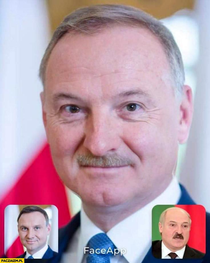 Duda Łukaszenka przeróbka faceapp face app