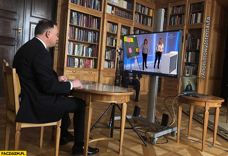 Duda ogląda szkoła z TVP Anonimowy Internauta