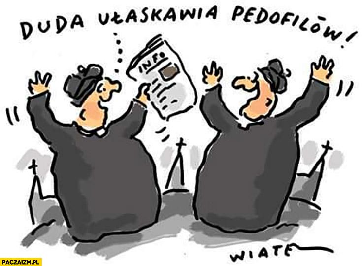 Duda ułaskawia pedofilów księża się cieszą świętują