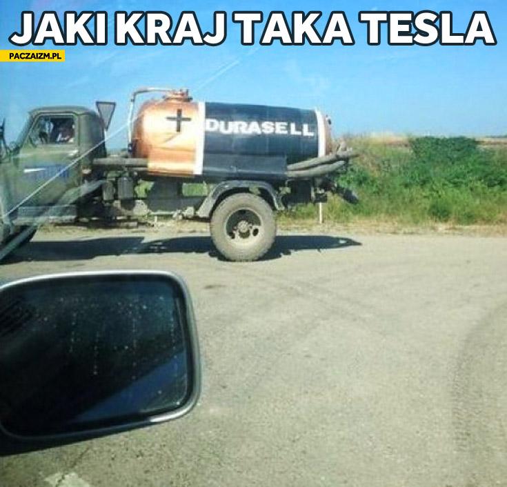 Durasell jaki kraj taka Tesla