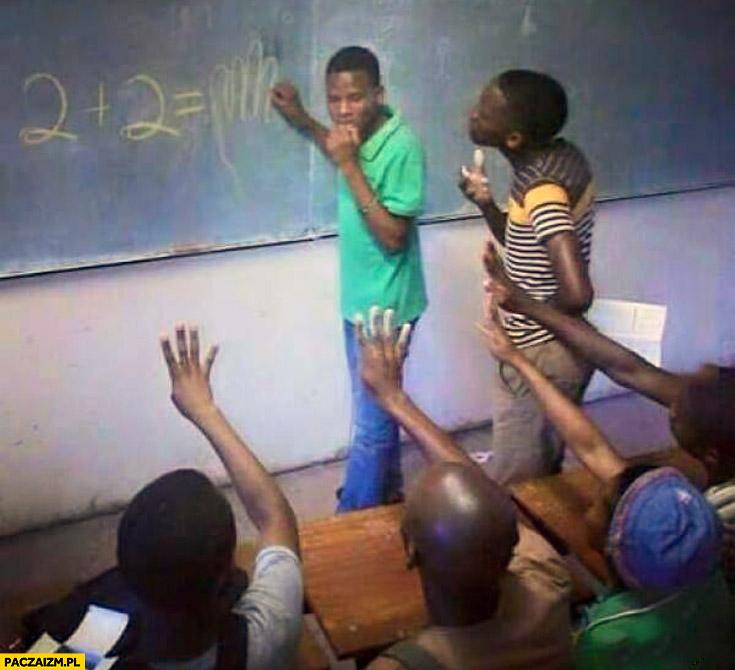 Dwa plus dwa w Afryce na palcach