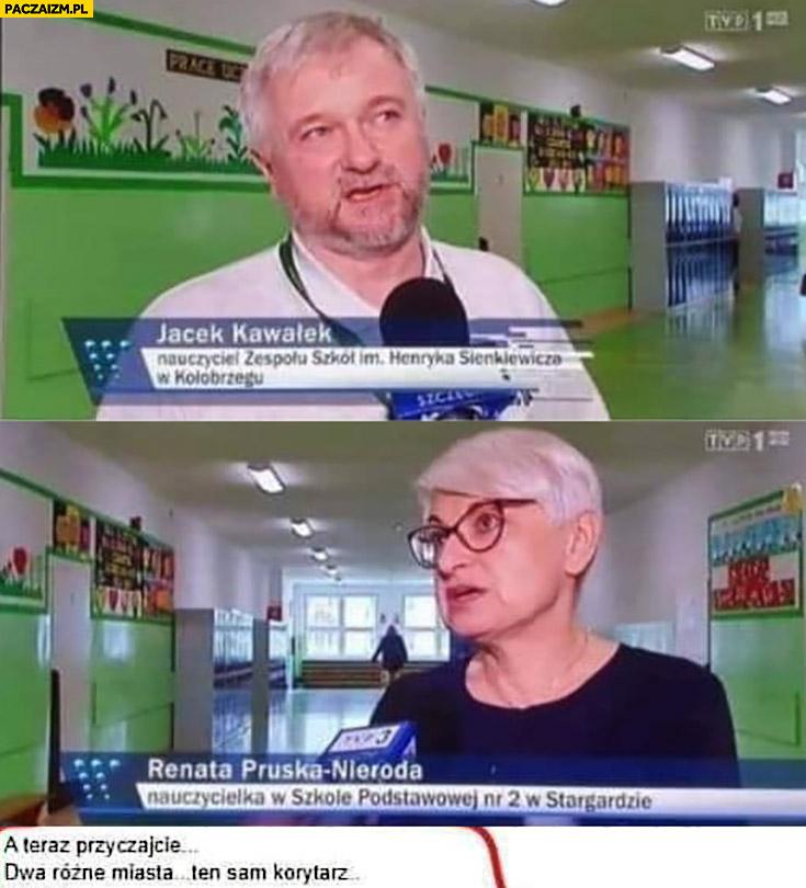 Dwa różne miasta ten sam korytarz Wiadomości TVP