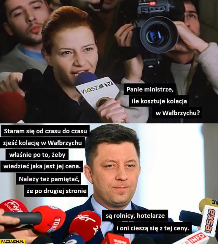 Dworczyk panie ministrze ile kosztuje kolacja w Wałbrzychu odpowiedz jak Morawiecki o cenie chleba