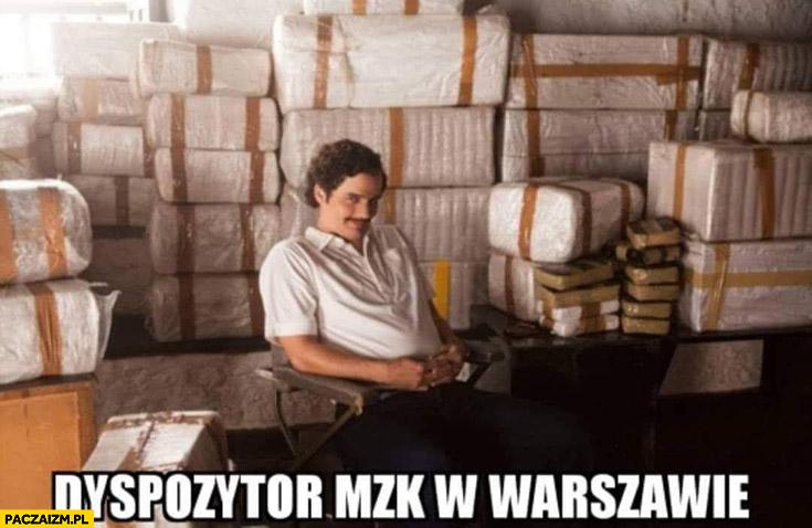 Dyspozytor MZK w Warszawie Narcos Pablo Escobar