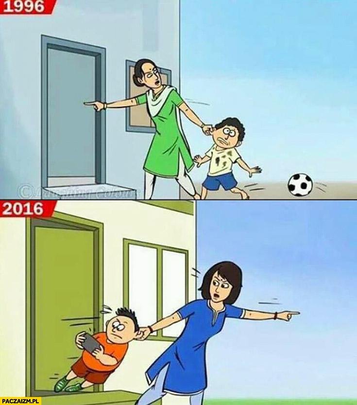 Dzieci w 1996 w porównaniu do dzieci w 2016 nie chce wyjść na dwór