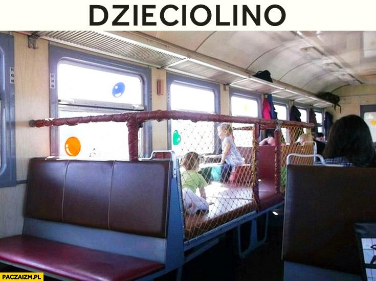 Dzieciolino pociąg przedział dla dzieci