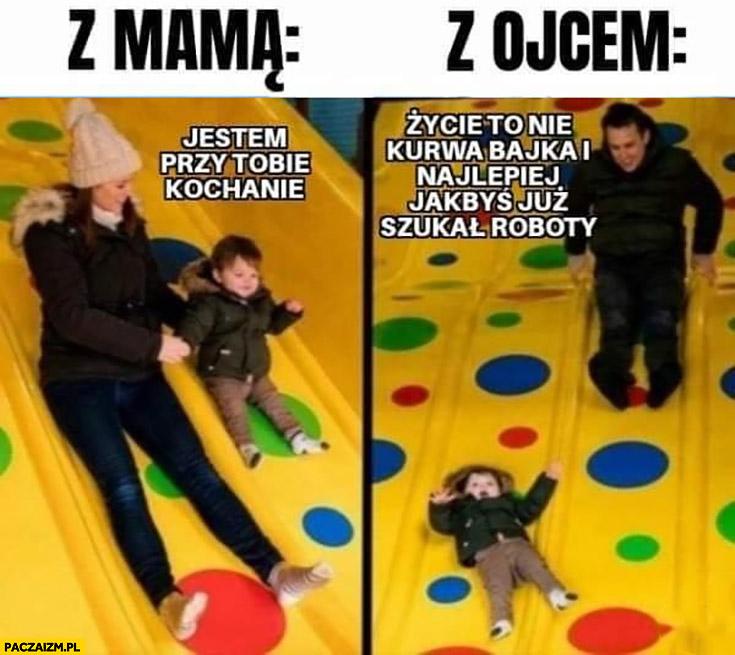 Dziecko z mamą jestem przy Tobie vs z ojcem życie to nie bajka