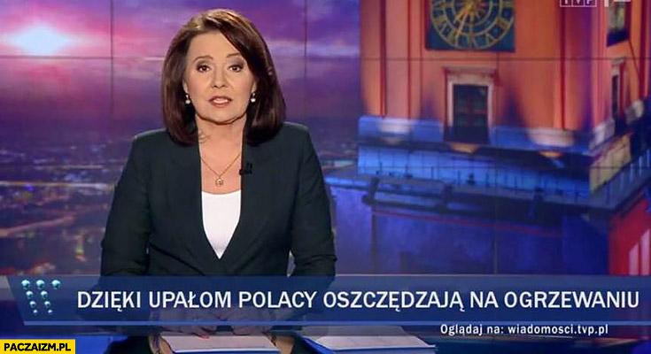 Dzięki upałom Polacy oszczędzają na ogrzewaniu pasek Wiadomości TVP