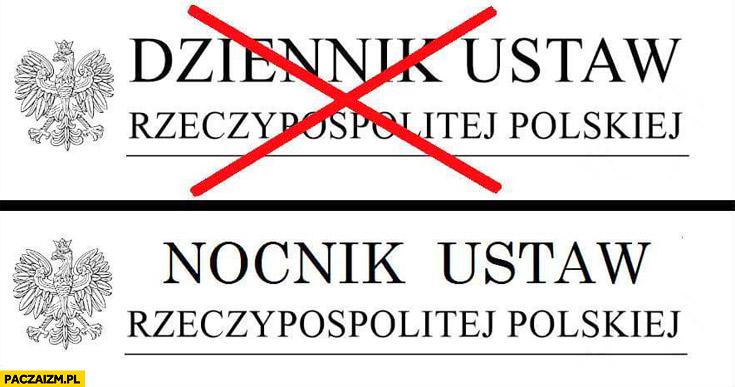 Dziennik ustaw, nocnik ustaw rzeczypospolitej polskiej