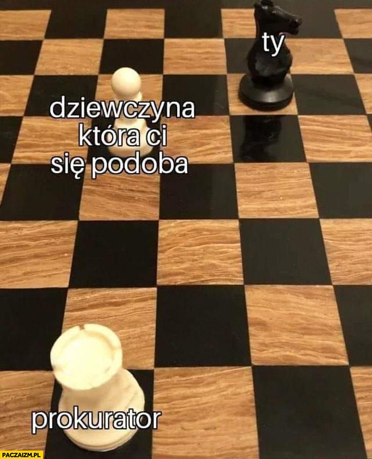 Dziewczyna która Ci się podoba, Ty, prokurator szachy