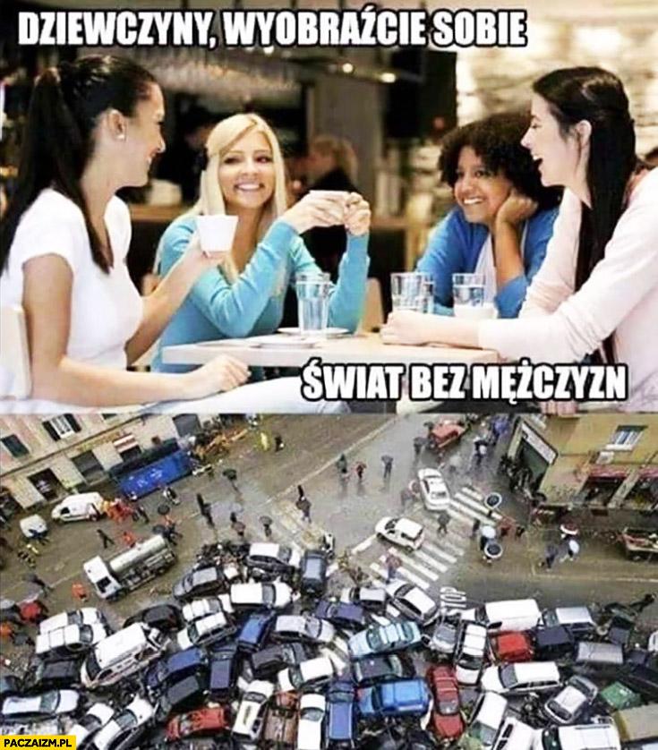 Dziewczyny wyobraźcie sobie świat bez mężczyzn wielka kolizja wypadek na drodze