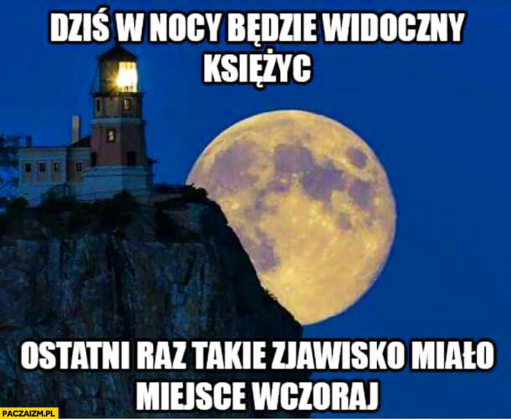 Dziś w nocy będzie widoczny księżyc ostatni raz takie zjawisko miało miejsce wczoraj